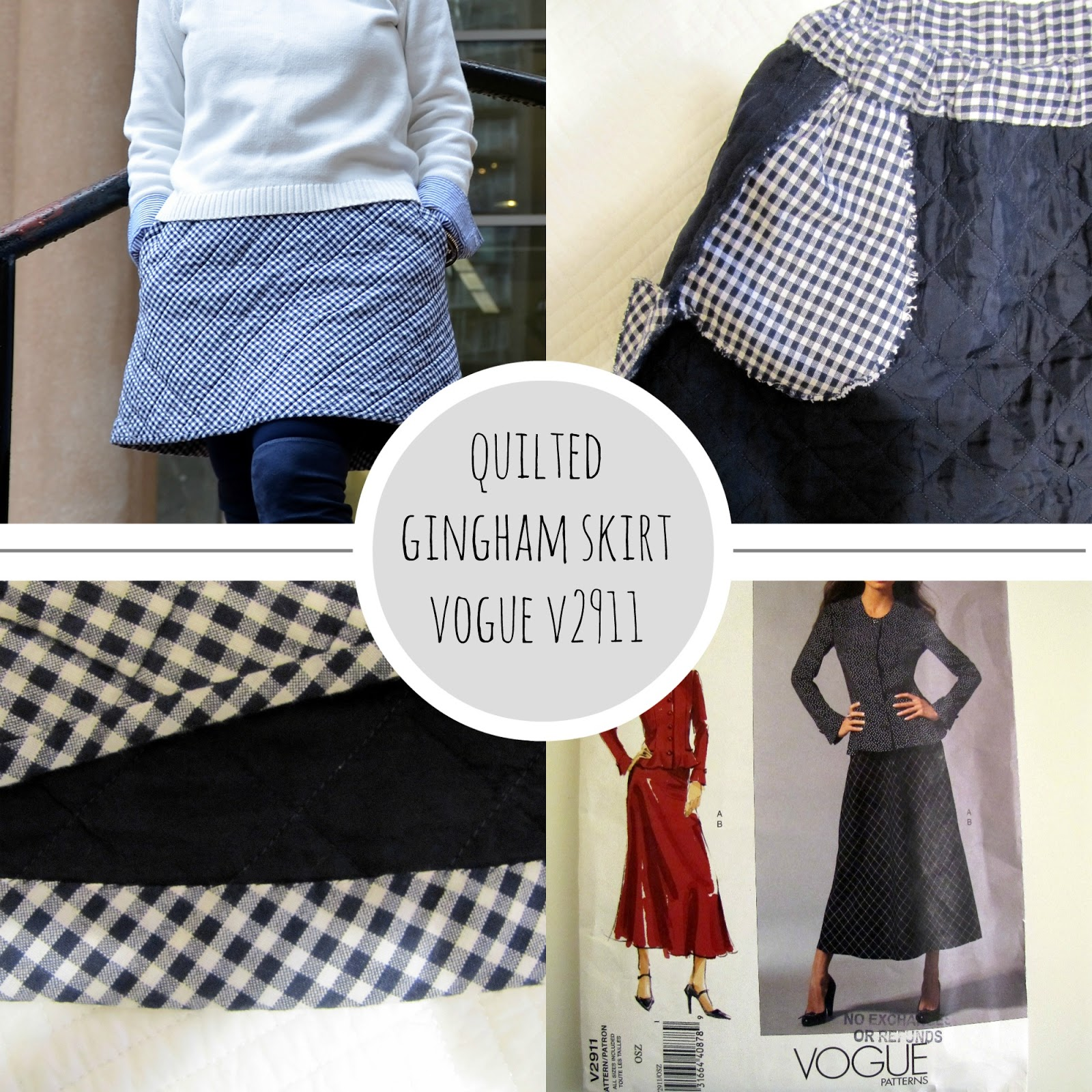 A-Colourful-Canvas, Quilted-Gingham-Skirt, Vogue-V2911