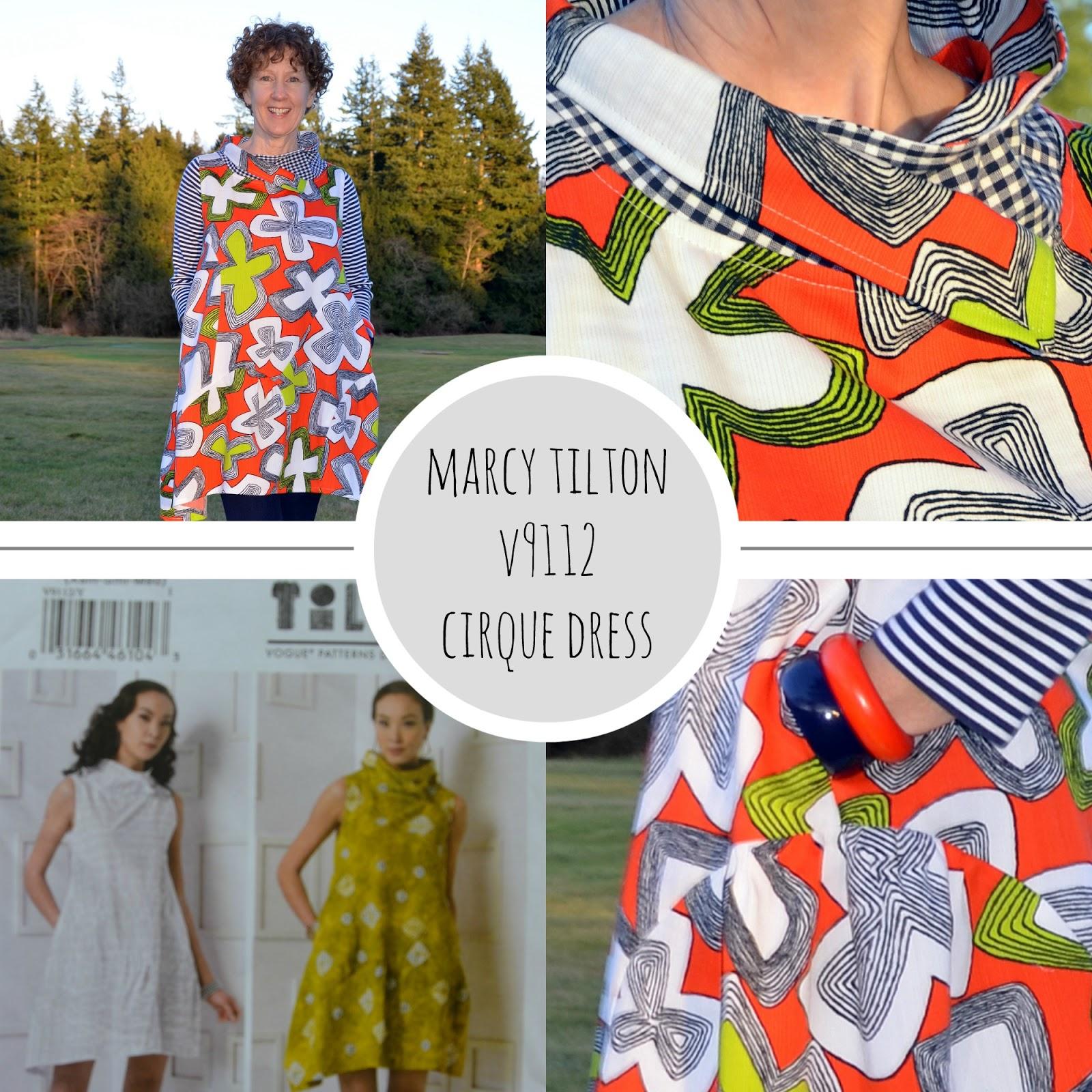 Vogue Pattern V9112, Marcy Tilton Cirque Dress